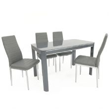Morano Grey Dining Table & 4 Chairs